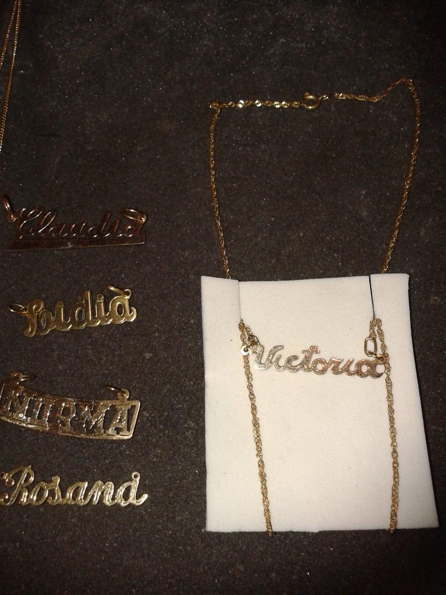 diseño profesional bien baratas precio baratas Cadena Y Dije Con Tu Nombre Oro 18k Con Estuche!!!!!!!!!!!!!