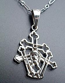 bd7daa850e3e Cadena Y Cruz Con Cristo En Plata .925 Joyeria Otras Piedras ...