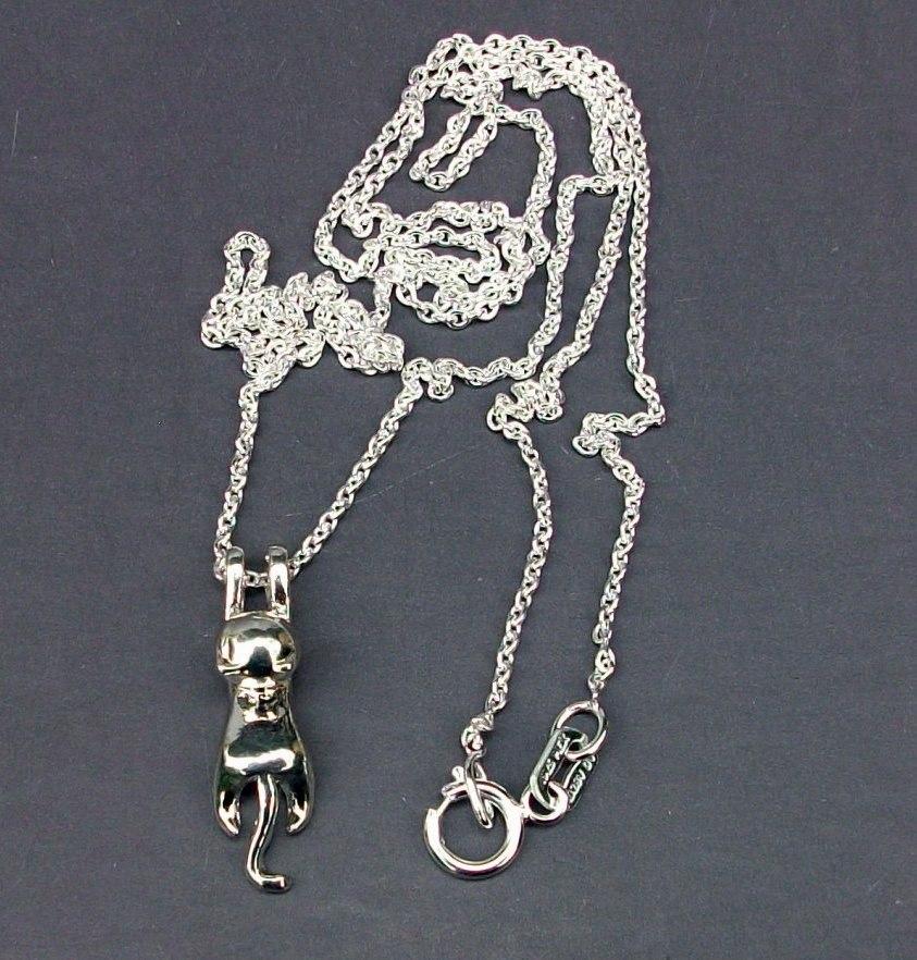 32441849ffd0 Cargando zoom... cadena y dije de gato para dama en plata .925 ...