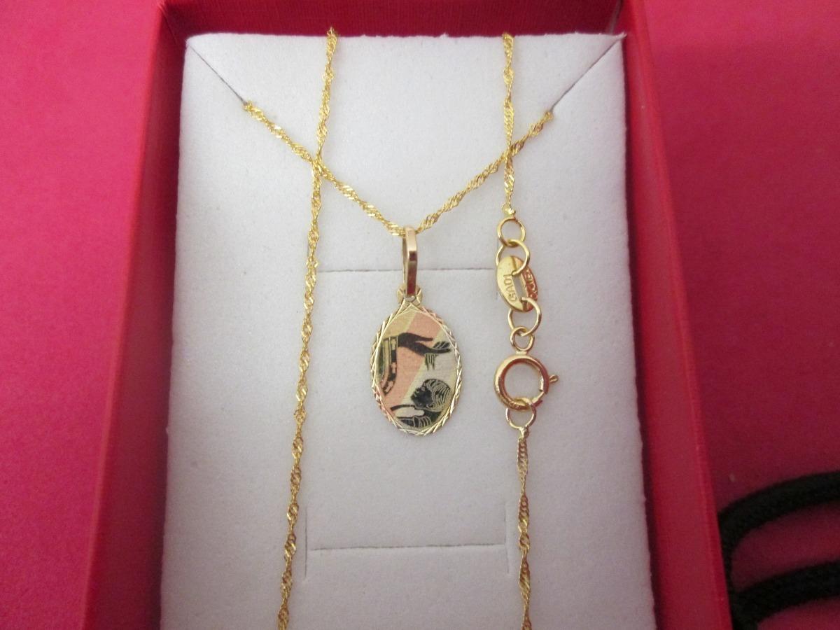 74bc45cf82e Cadena Y Medalla Bautizo Oro Sólido De 10 Kilates. - $ 941.00 en ...