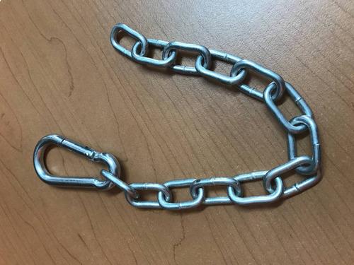 cadena y mosqueton multifuerza (2 juegos)