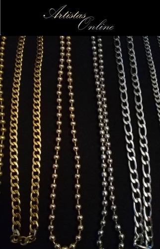 cadenas acero plata laminado varios  artistas online c. a