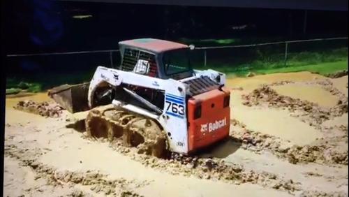 cadenas arena/barro para minicargadora bobcat caterpillar