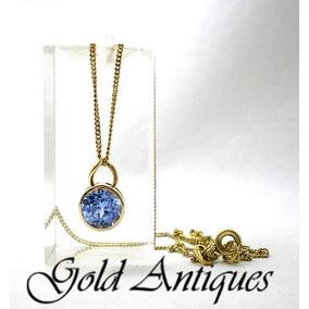 a9159815dc61 Cadena Con Medallon De Oro Y Topacio Montado - Joyas y Bijouterie en ...