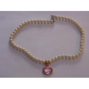 4f1d5a761fea Capital Federal · Antiguo Collar Gargantilla De Perlas Fantasia Con Colgante