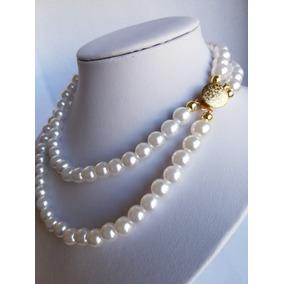 ad9c7760d113 Collar De Perlas Con Broche - Joyas y Bijouterie en Mercado Libre ...