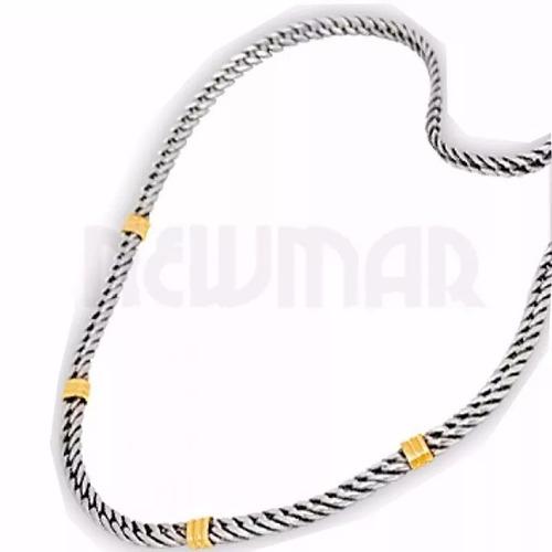cadenas de plata 925 y oro 18 k - chatos h1 mujer hombre