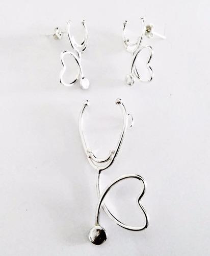 cadenas de plata estetoscopio en plata pura 950 para medicos