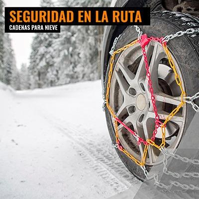 cadenas nieve barro premium 16mm camioneta pickup 4x4+guante