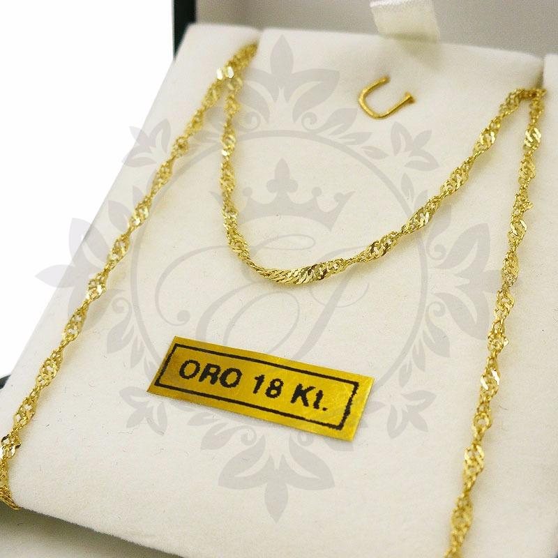 3e042643d623 cadenas oro 18 k hombre mujer modelo singapur 2.3 grs 60 cm. Cargando zoom.