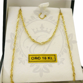 363249112dc1 O1270 Cadena Oro Amarillo 18k Modelo Singapur 40 Cms - Joyas y ...