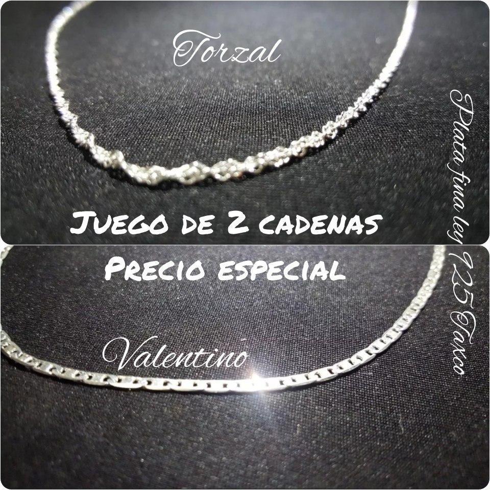 ac7a80127398 cadenas plata taxco 925 valentino y torsal mujer unisex homb. Cargando zoom.