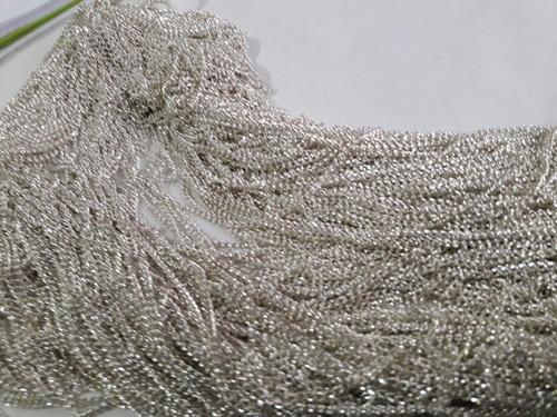 cadenas plateadas insumos de bijuterie