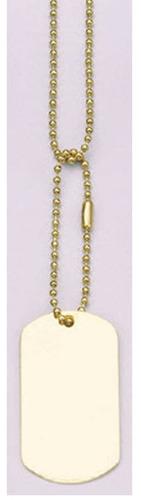 cadenas rothco para placas de idenficiacion dog tag dorado
