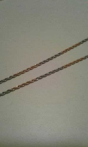 cadenas y pulseras de acero quirúrgico