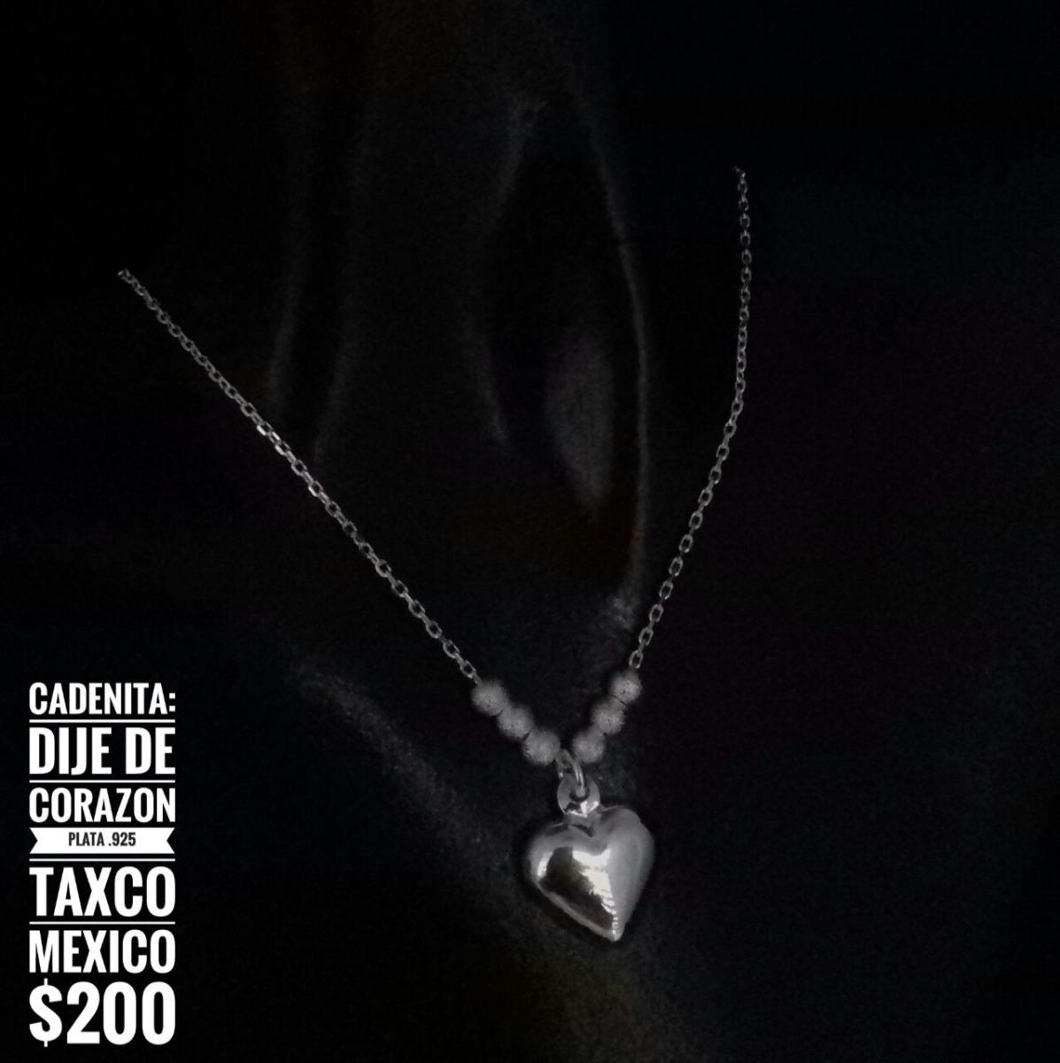 122ec6cf11f8 Cadenita Dije De Corazón Plata .925 Taxco