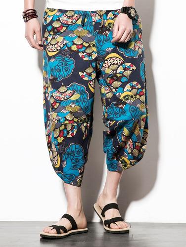 cadera -hop sector flor impresión nueve minutos de pantalon