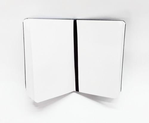 caderneta caderno bloco anotações sem pauta costurada sketch