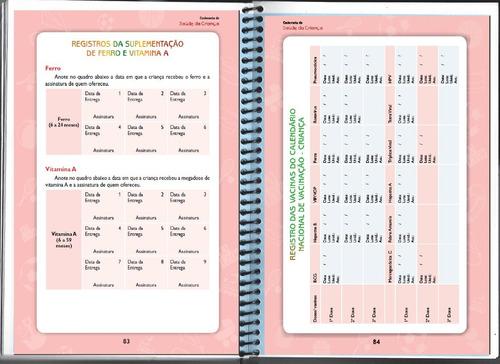 caderneta de vacinação. caderno de vacina.  menino