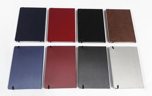 caderneta grande lisa 14x21 sketchbook pauta capa dura