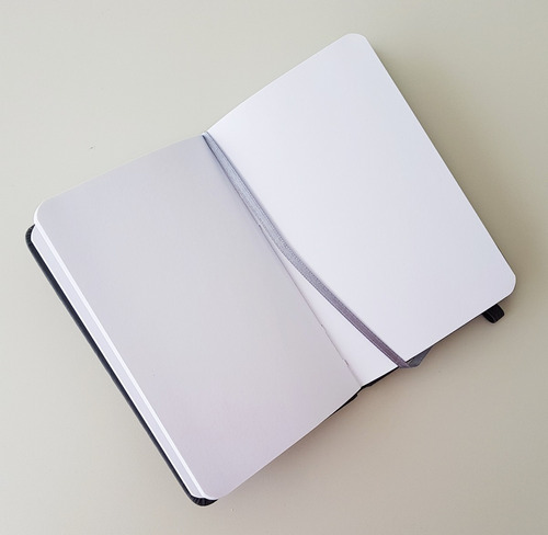caderneta tipo moleskine - bloco de anotações - 3 un