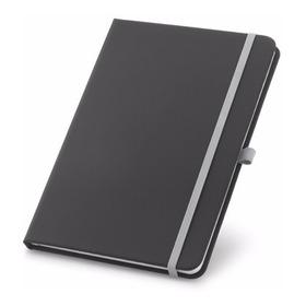 Caderneta Tipo Moleskine Com Pautas E Porta Caneta - 1 Un