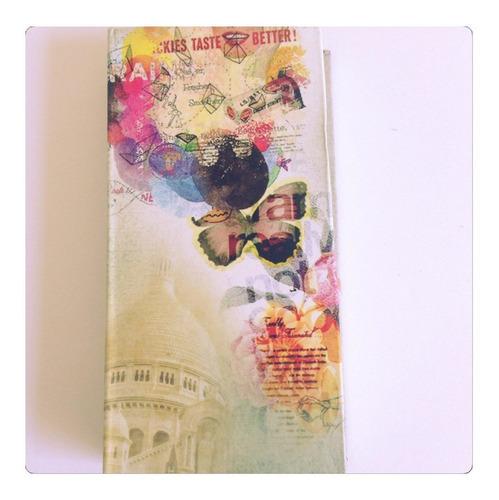 caderninho de anotações bolsa estampado kit com 12 peças