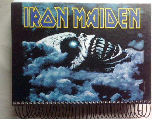 caderno antigo iron maiden 2007-400 fl-p/colecionar ou usar