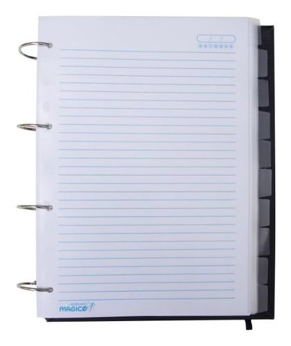 caderno argolado universitário ciências contábeis couro luxo