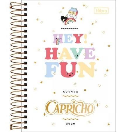 Caderno Capricho 16 Materias Agenda Capricho Tilibra 2020 R