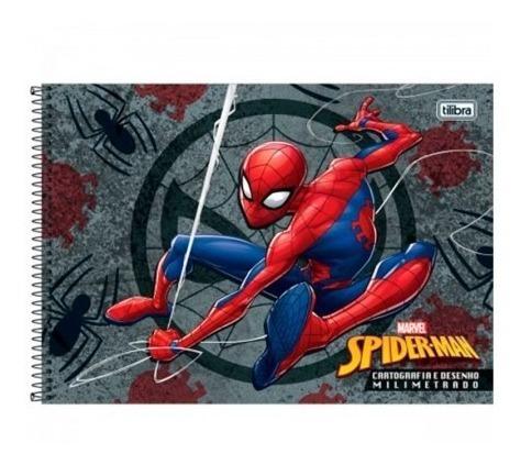 Caderno Cartografia E Desenho Homem Aranha Com Espiral R 33 00