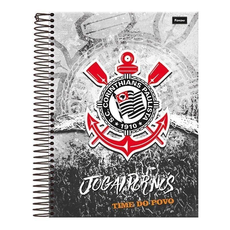 Caderno Corinthians Espiral Capa Dura - R  33 a094c98f904df