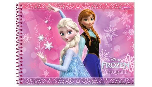 Caderno De Desenho Frozen Ana E Elsa Cartografia 96 Folhas R