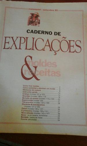 caderno  de explicações  moldes e receitas manequimn429...