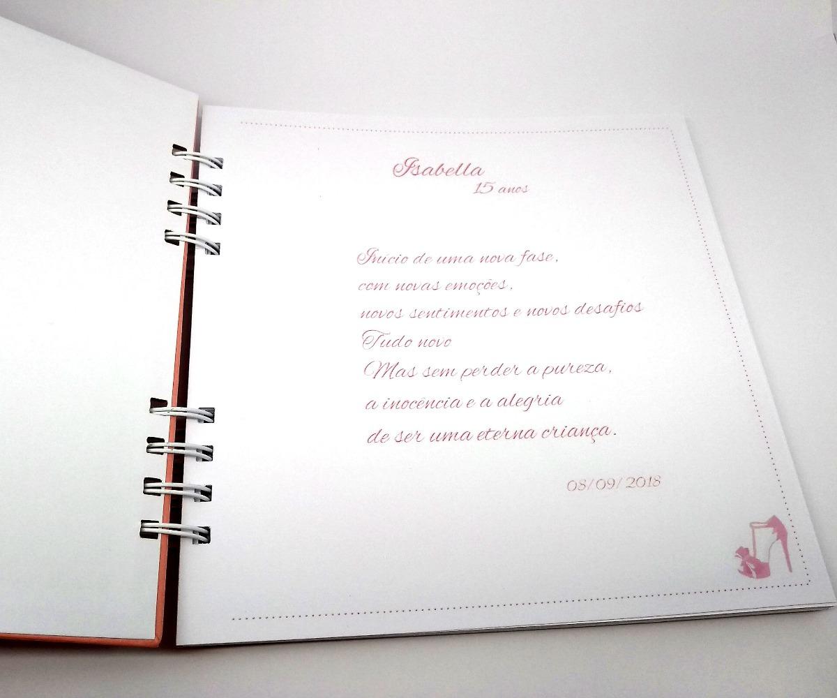 Caderno De Mensagem Debutantes 15 Anos Livro Assinatura