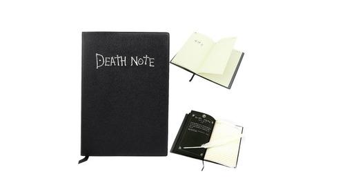 caderno death note com pena