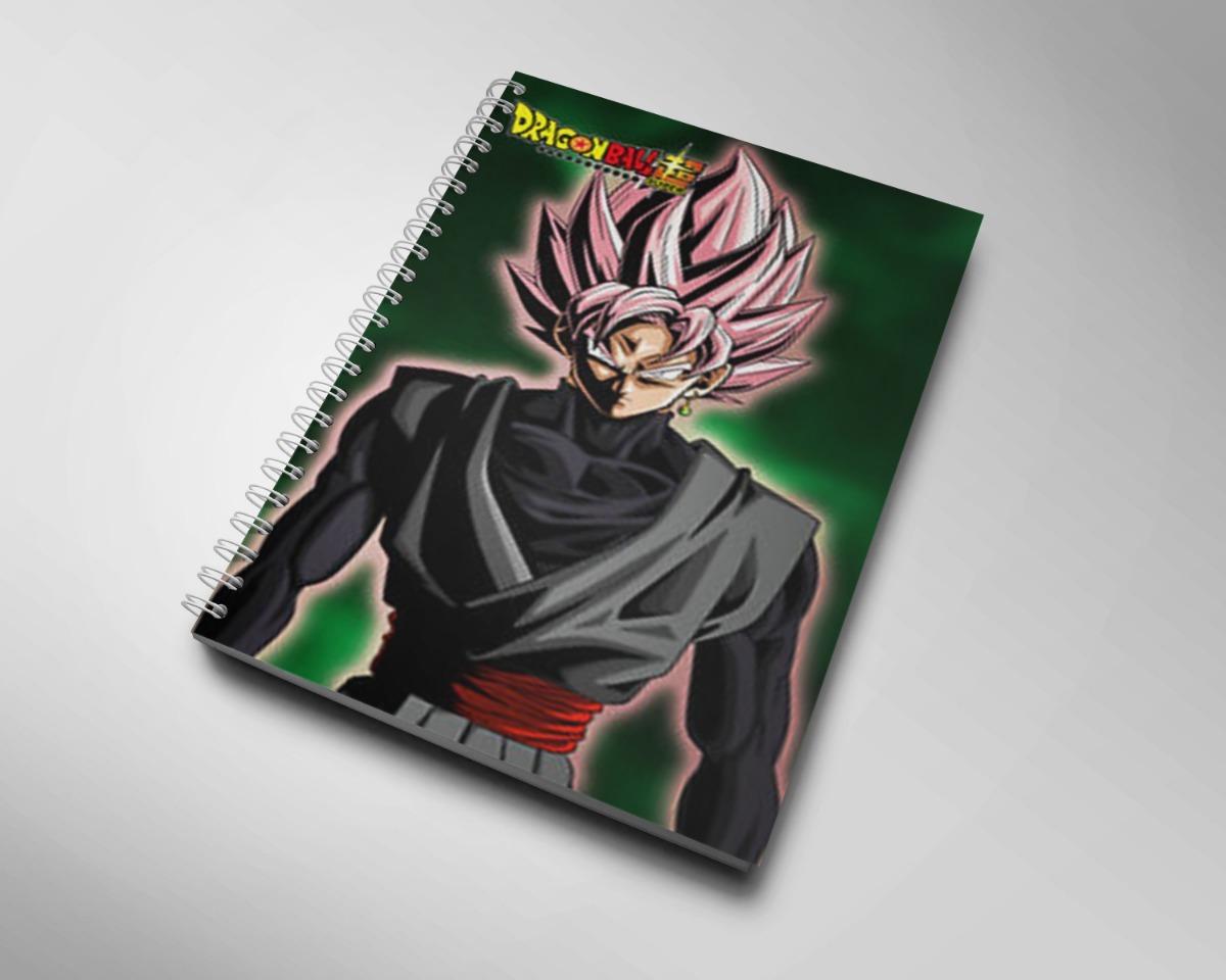 Caderno Desenho Dragon Ball Super 160 Folhas 8 Matérias