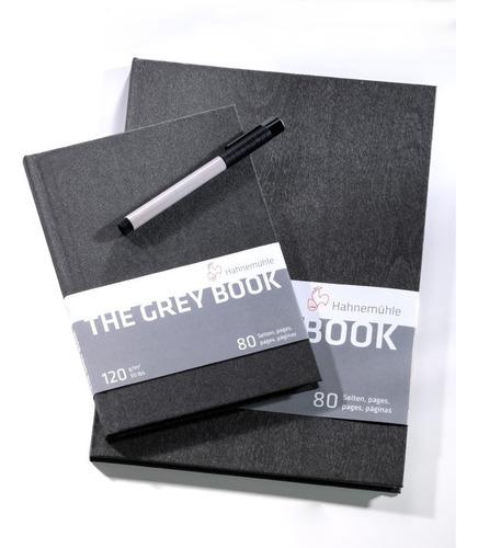 caderno desenho hahnemuhle - the grey book 120g a4 80 folhas