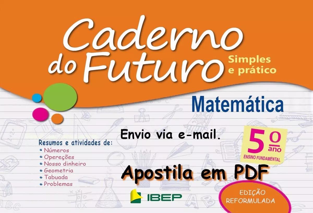 Caderno Do Futuro 5º Ano Matemática - Do Professor - R$ 12