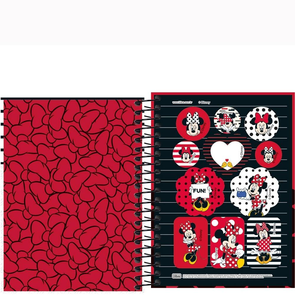 fe2e8fc32f caderno espiral 1 4 minnie 96 folhas - tilibra - vermelho. Carregando zoom.