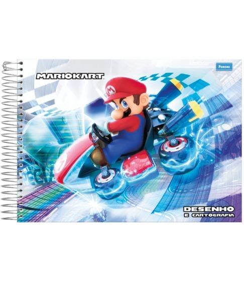 Caderno Espiral Super Mario Bros Desenho E Cartografia 96 Fl R