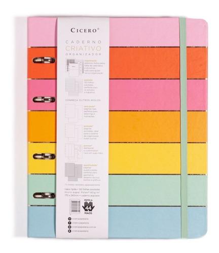 caderno fichário argolado 12 matérias fech. c/ elástico