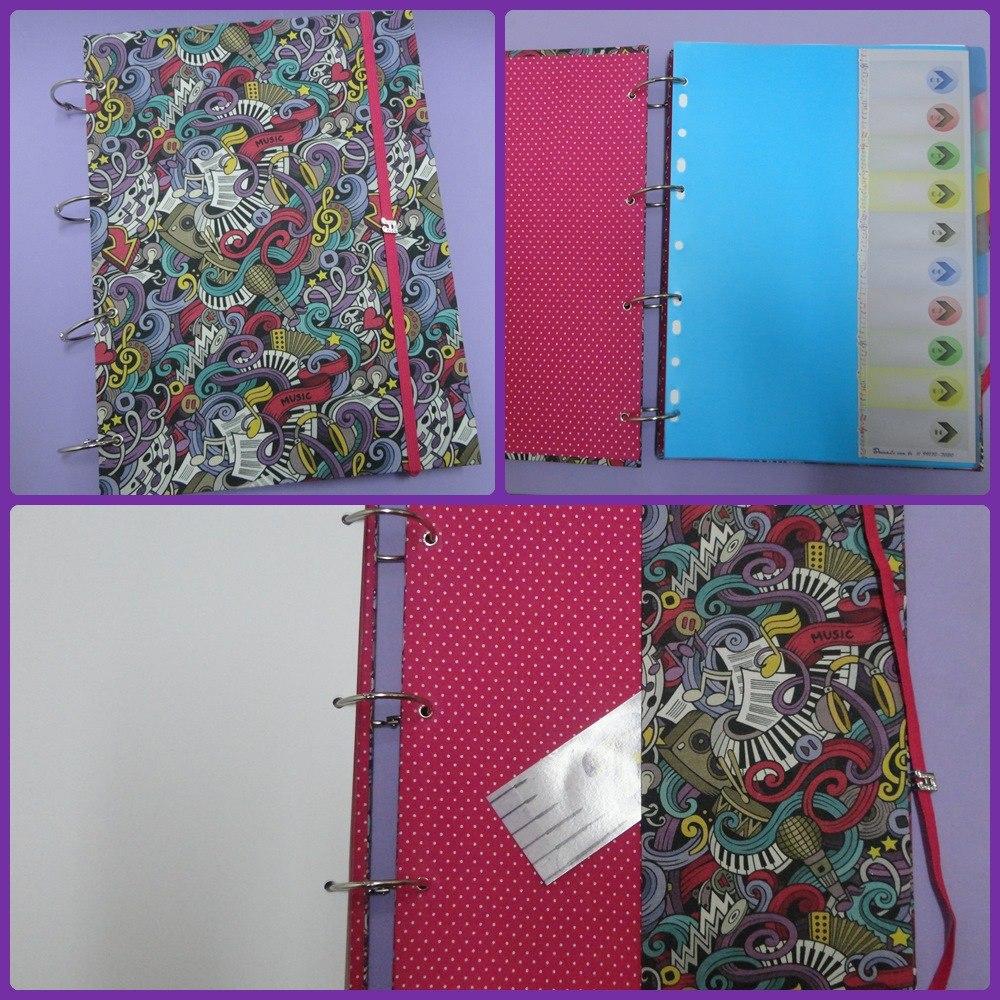 2453254a3 Caderno Fichário Argolado 200 Folhas Artesanal - R$ 134,00 em ...