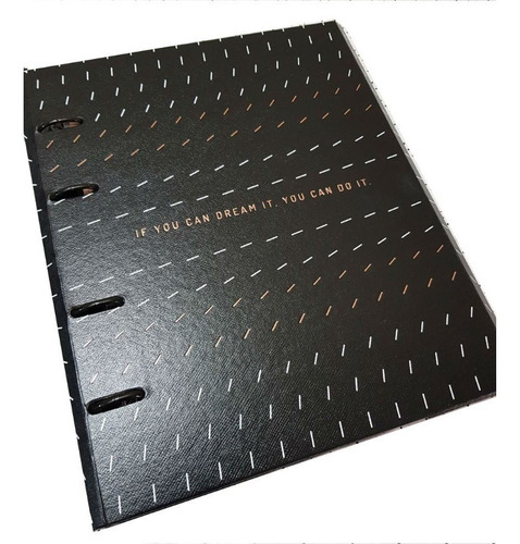 caderno fichário coleção noir - 10 mat - imã
