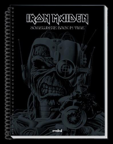 caderno iron maiden 16 materias grande 320 f c/ 2 credeal