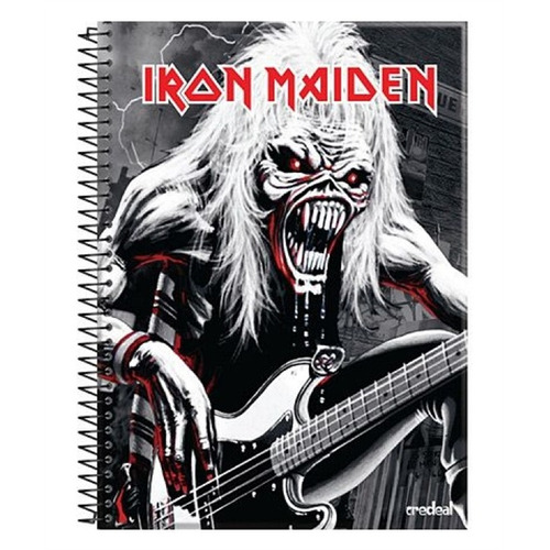 caderno iron maiden fear of the dark (guitarra) 1 matéria