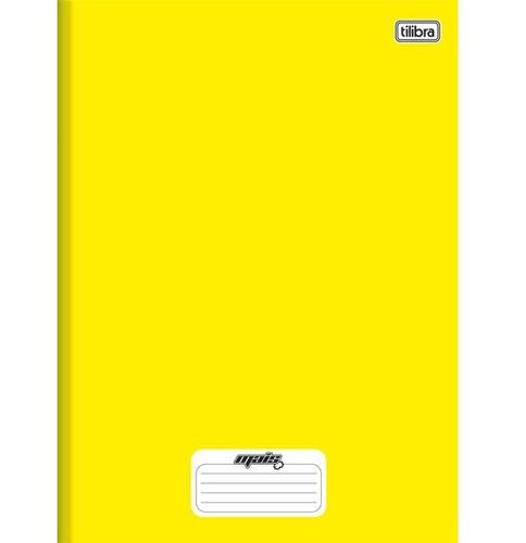 caderno linguagem brochura 96 folhas capa dura 116726 amarel