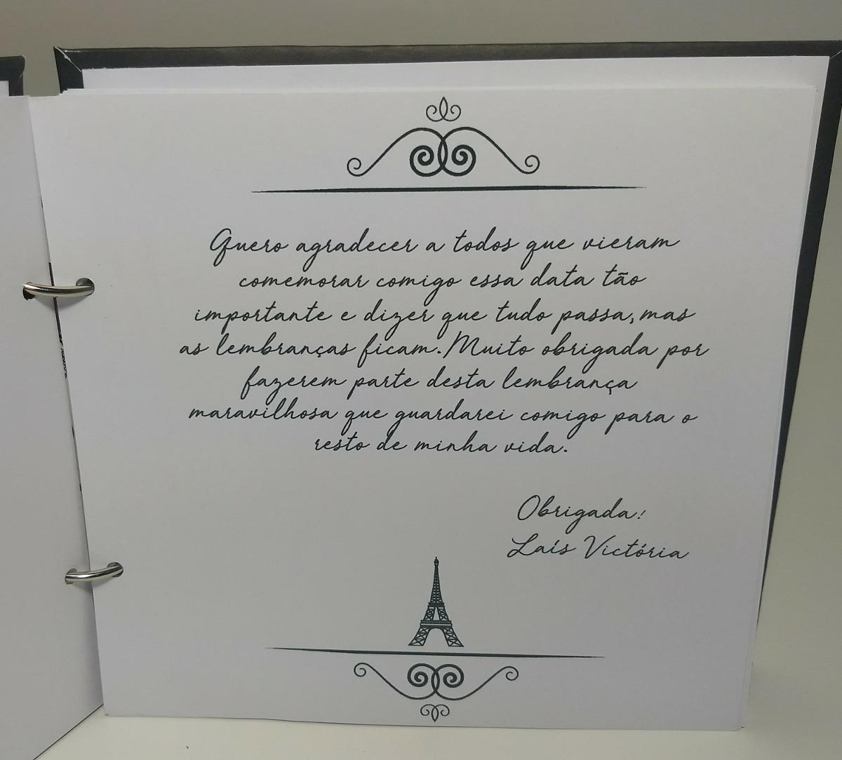 Caderno Livro De Mensagens E Assinaturas 15 Anos Scrapbook