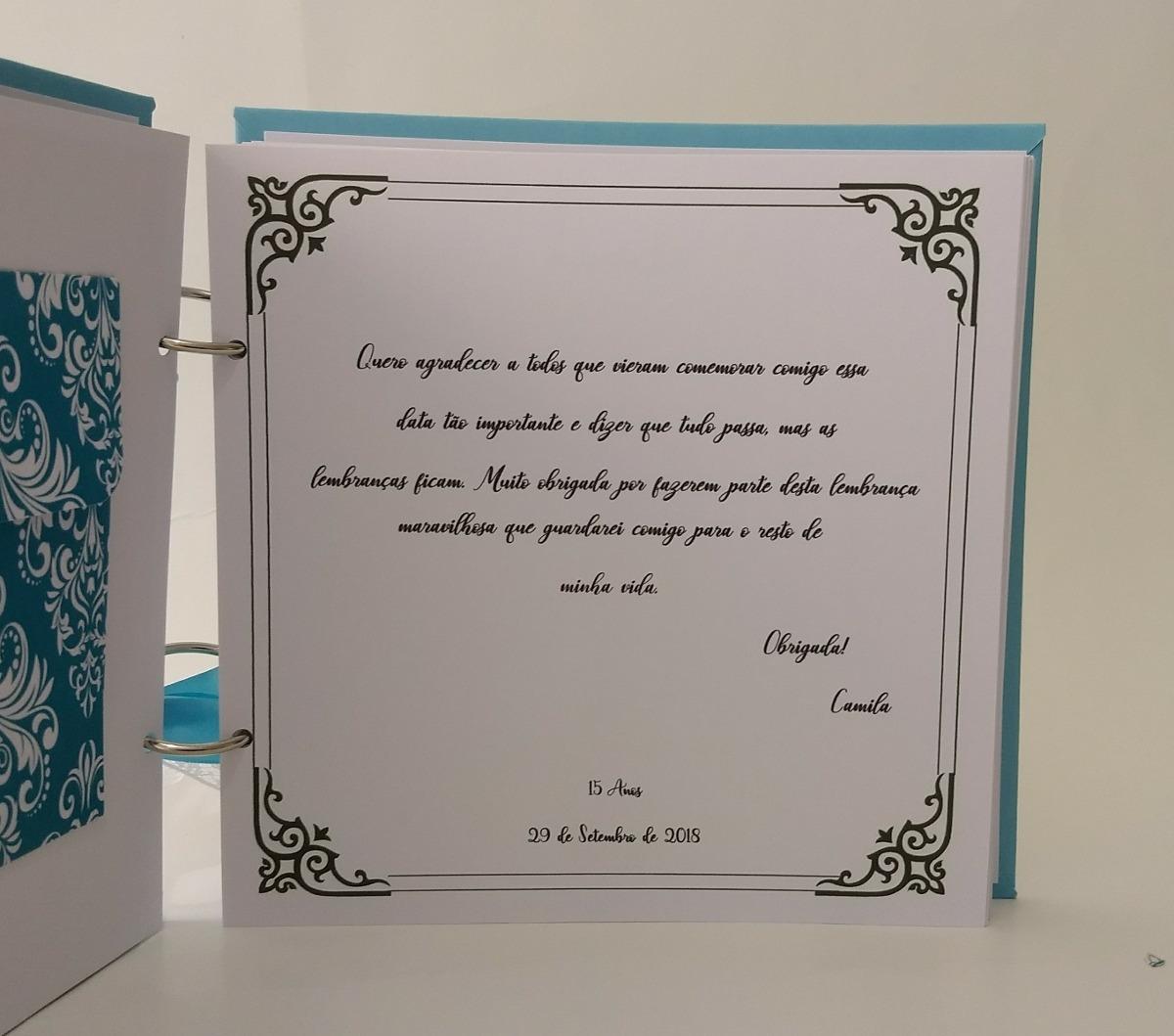 Caderno Mensagens Personalizado Ccaixa 15 Anos Azul Tiffany