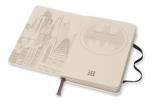 caderno moleskine batman capa dura pautada de bolso 0911